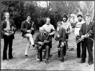 Sean Reid with pipers